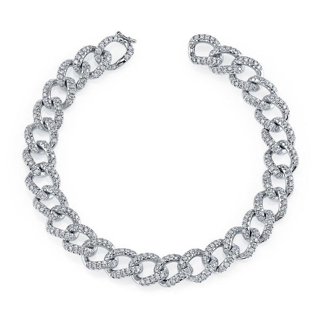 SMALL DIAMOND CHAIN LINK BRACELET