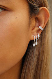 MINI DIAMOND SAFETY PIN EARRING