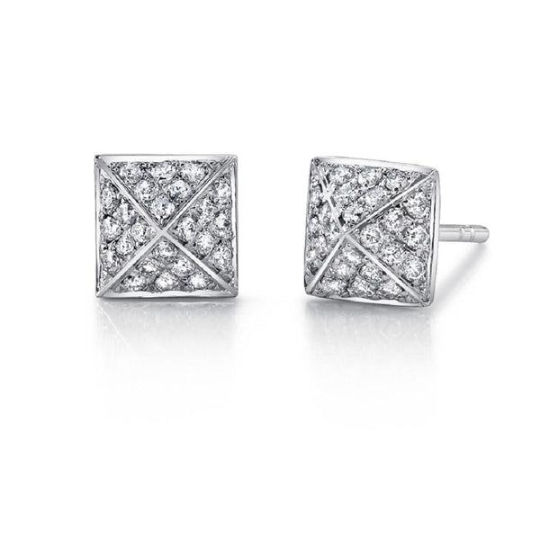 LARGE DIAMOND SPIKE STUD EARRINGS