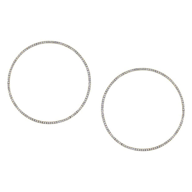 DIAMOND CIRCLE HOOP EARRINGS