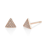 DIAMOND PAVE TRIANGLE STUD EARRINGS