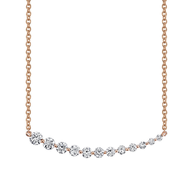 GRADUATED DIAMOND NECKLACE