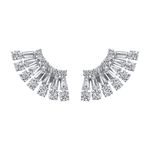 AVA FLOATING DIAMOND STUDS