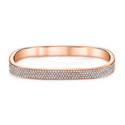 FOUR ROW DIAMOND SQUARE BANGLE
