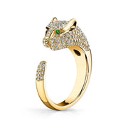 PANTHER RING WITH DIAMONDS