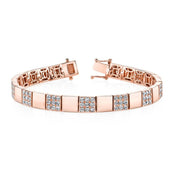 DIAMOND SQUARE LINK BRACELET
