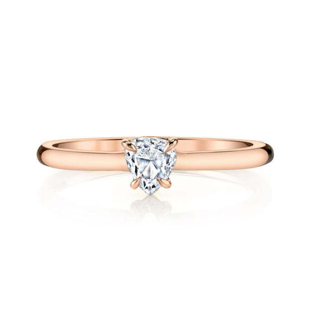 PEAR SHAPE DIAMOND PINKY RING