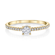 ME/YOU ROUND DIAMOND PAVE RING