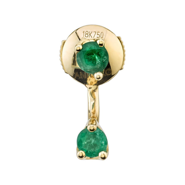EMERALD ORBIT EARRING