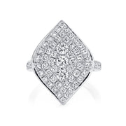 PAVE DIAMOND MARQUIS RING