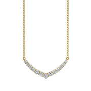 DIAMOND CURVED V NECKLACE
