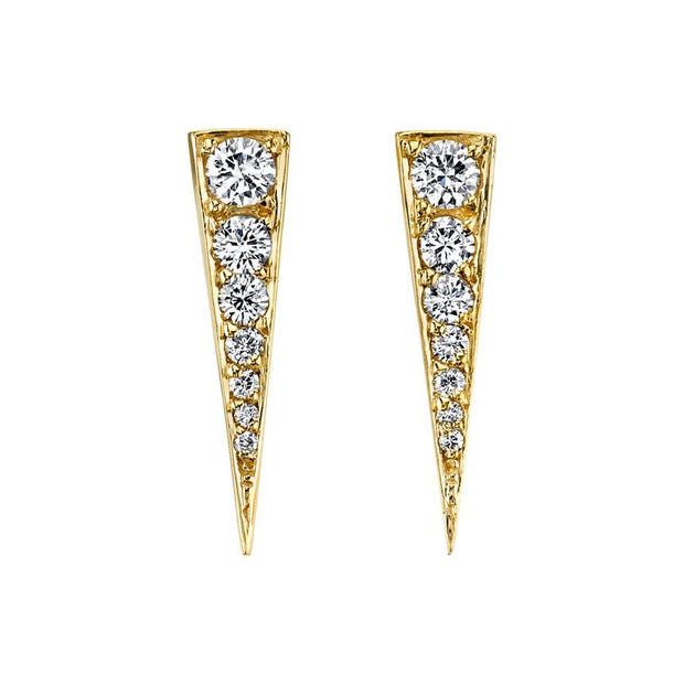SMALL DIAMOND DAGGER EARRINGS