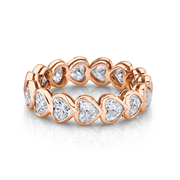 BEZELED HEART FULL DIAMOND ETERNITY BAND