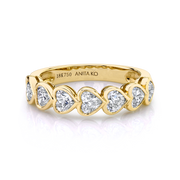 BEZELED HEART DIAMOND DEMI ETERNITY BAND