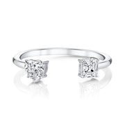 HEART/ASSCHER CUT SPLIT DIAMOND RING