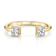 DOUBLE ASSCHER CUT SPLIT RING