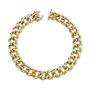 Small plain chain link bracelet
