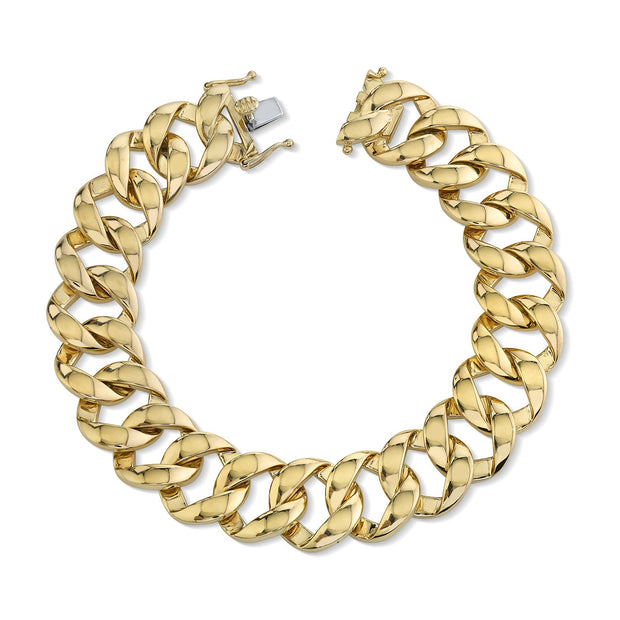 Medium plain chain link bracelet
