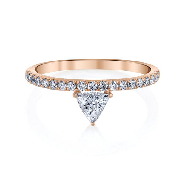 Luxe triangle ring