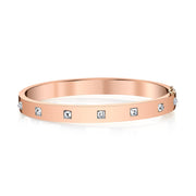 INVERTED DIAMOND PRINCESS CUT OVAL BRACELET