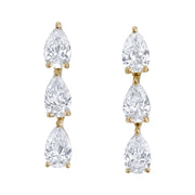3 pear diamond dot studs