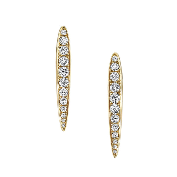 MEDIUM SPEAR DIAMOND EARRINGS