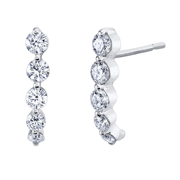 SHORT CASCADE EARRINGS WITH LARGE DIAMONDS