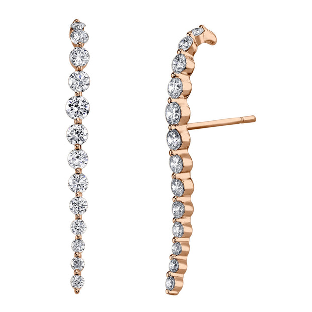 LONG DIAMOND CASCADE EARRINGS