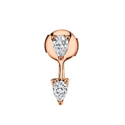 PEAR DIAMOND ORBIT EARRING