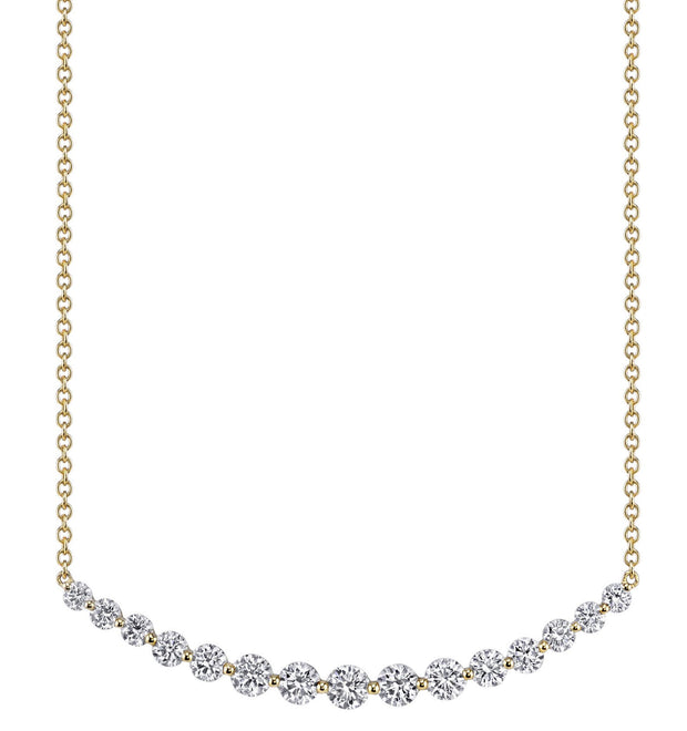 LARGE CRESCENT DIAMOND NECKLACE
