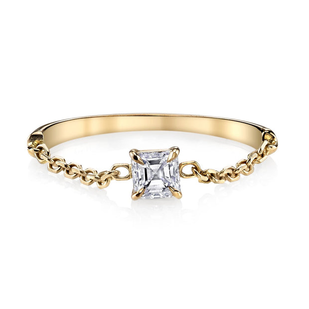 ASSCHER DIAMOND CHAIN RING