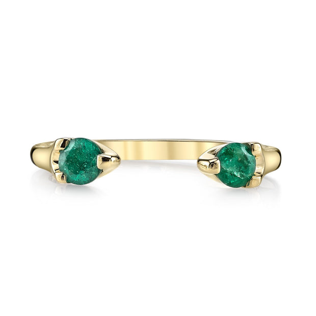 EMERALD ORBIT RING