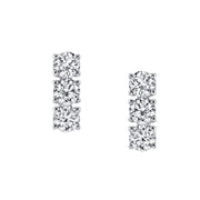 THREE DOT DIAMOND EARRINGS