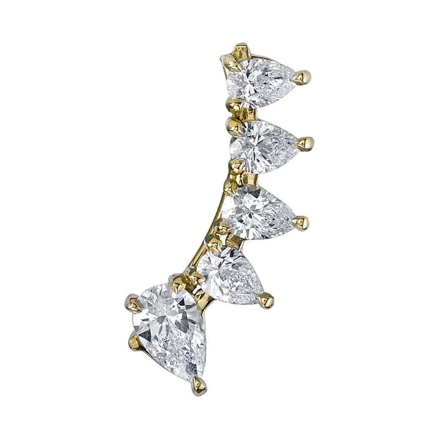 PEAR DIAMOND FLOATING EARRING