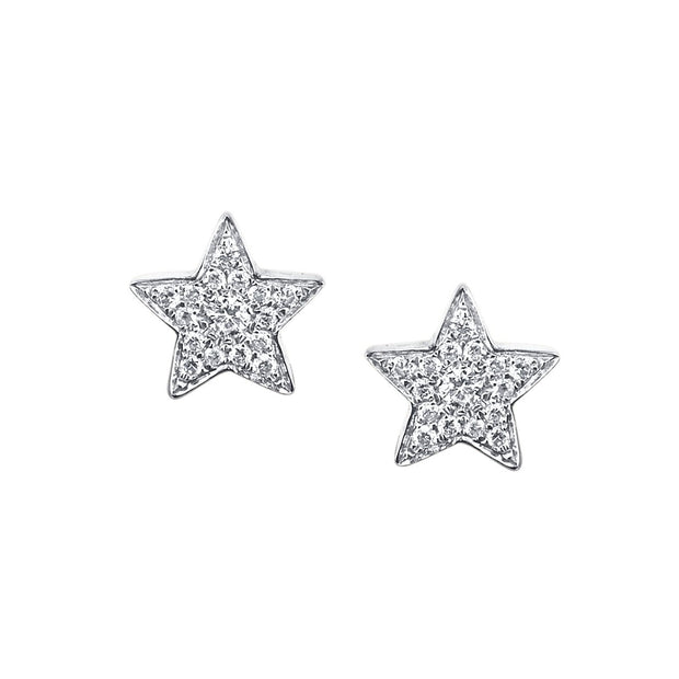 SMALL STAR DIAMOND STUDS
