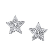 MEDIUM STAR DIAMOND STUDS