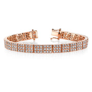 ALL DIAMOND SQUARE LINK BRACELET