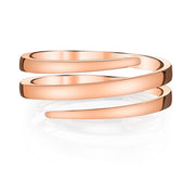 Plain pinky coil ring