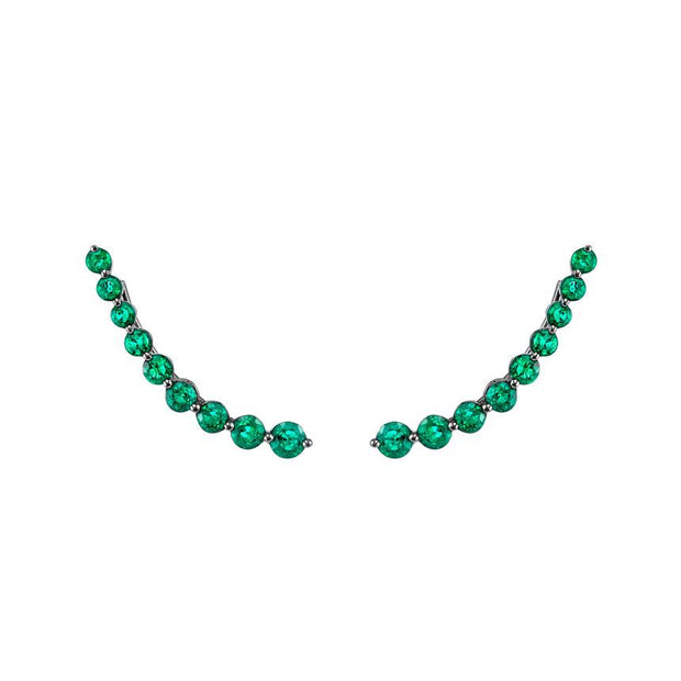 FLOATING EMERALD EARRING