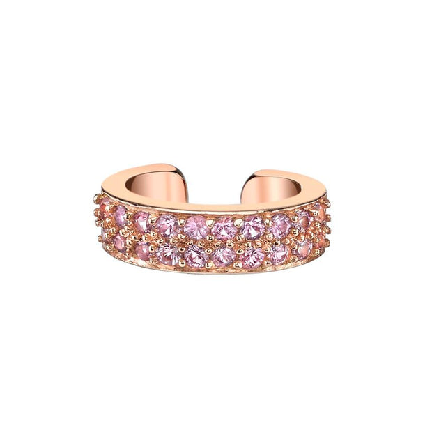 TWO ROW PINK SAPPHIRE EAR CUFF