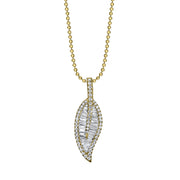 LARGE LEAF DIAMOND NECKLACE