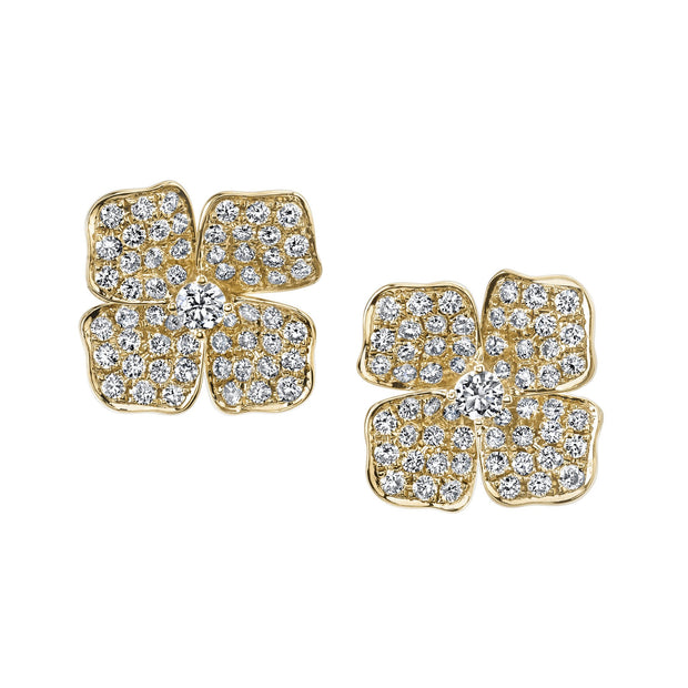 SMALL FLOWER DIAMOND STUDS