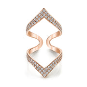 DOUBLE CHEVRON DIAMOND RING