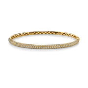 THREE-ROW DIAMOND BANGLE