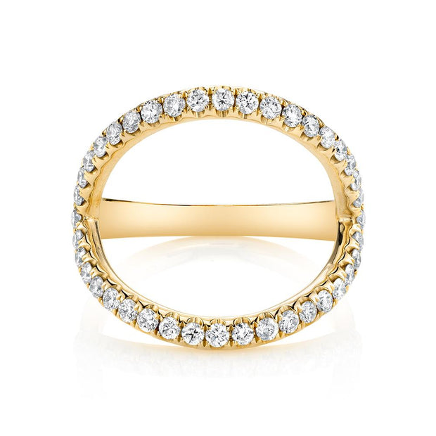 Diamond arc ring