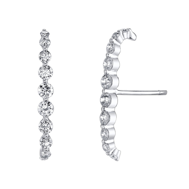 FLOATING DIAMOND LOBE CUFF