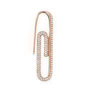 Diamond paper clip earring