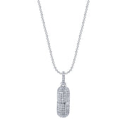 DIAMOND PILL NECKLACE