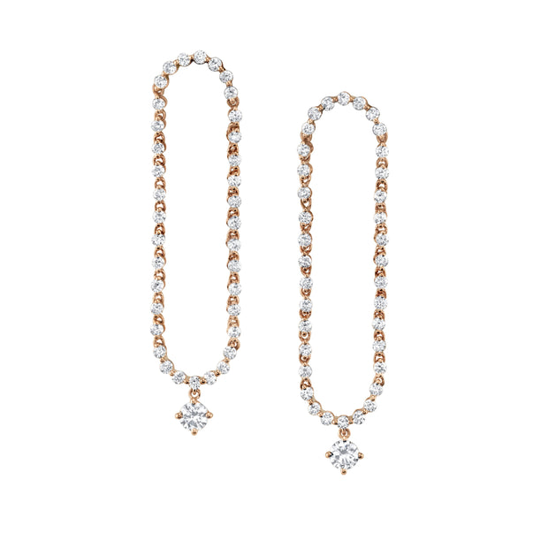 HUDSON ROUND DIAMOND DROP EARRINGS