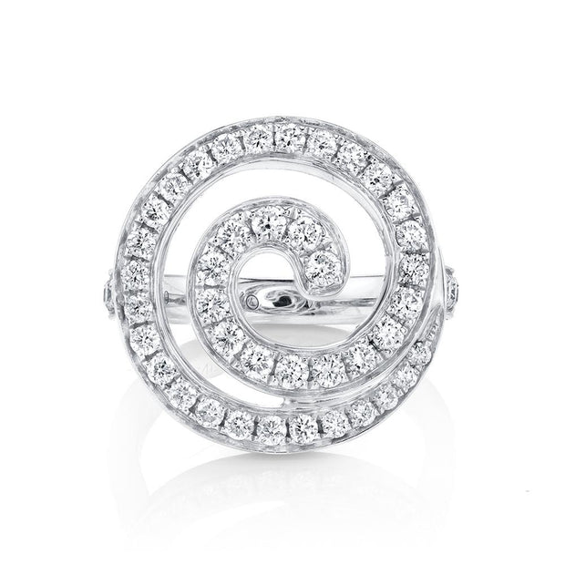 Diamond gratitude ring